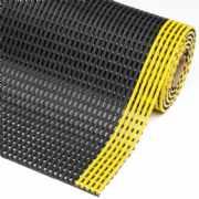 salg af Notrax sikkerhedsmåtte - Flexdek sort/gul 91 cm. pr. lbm. mtr.