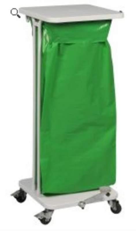Affaldsstativ 60 l. m. låg og pedal - Affaldsvogne Engros