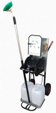 salg af Jumbo Hobby 2 pro. m. manuel.oprul 12,5 m. slange, autobørste, aluskaft