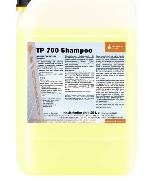 salg af TP 700 Shampoo - Jumbo shampoo med selvtørringseffekt