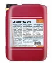 salg af Leracid KL 205 12 kg. Kalk og fedtfjerner UN 3264, 8, III